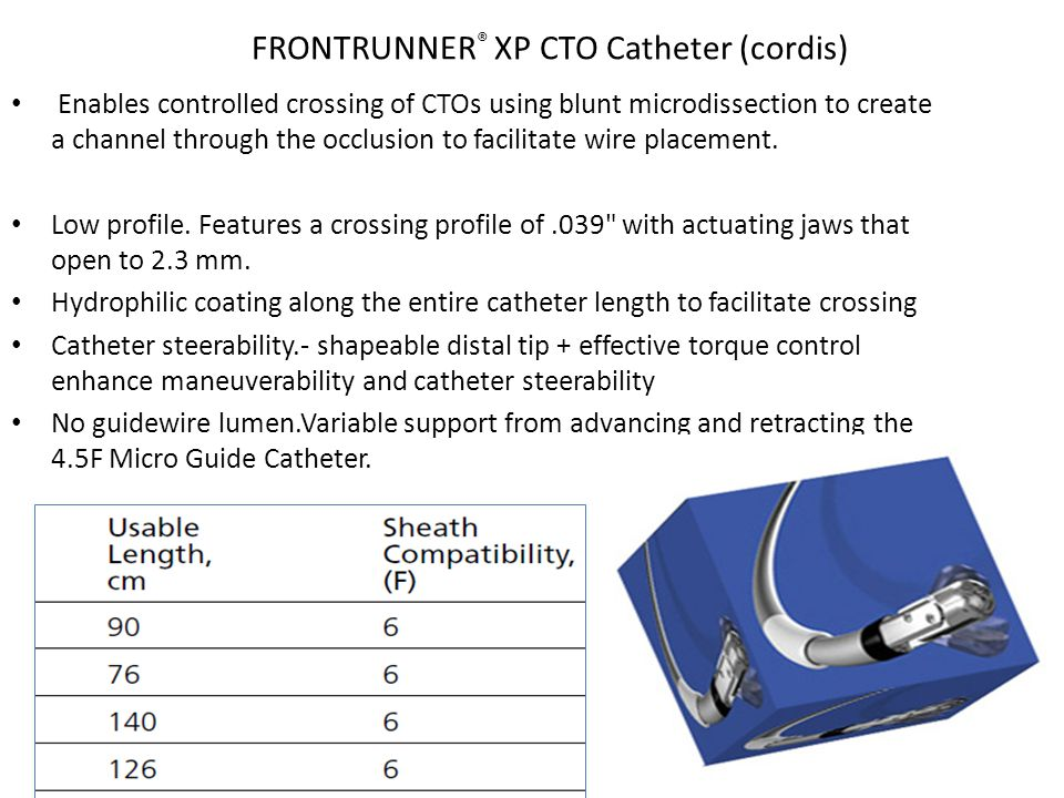 FRONTRUNNER® XP CTO Catheter (cordis)