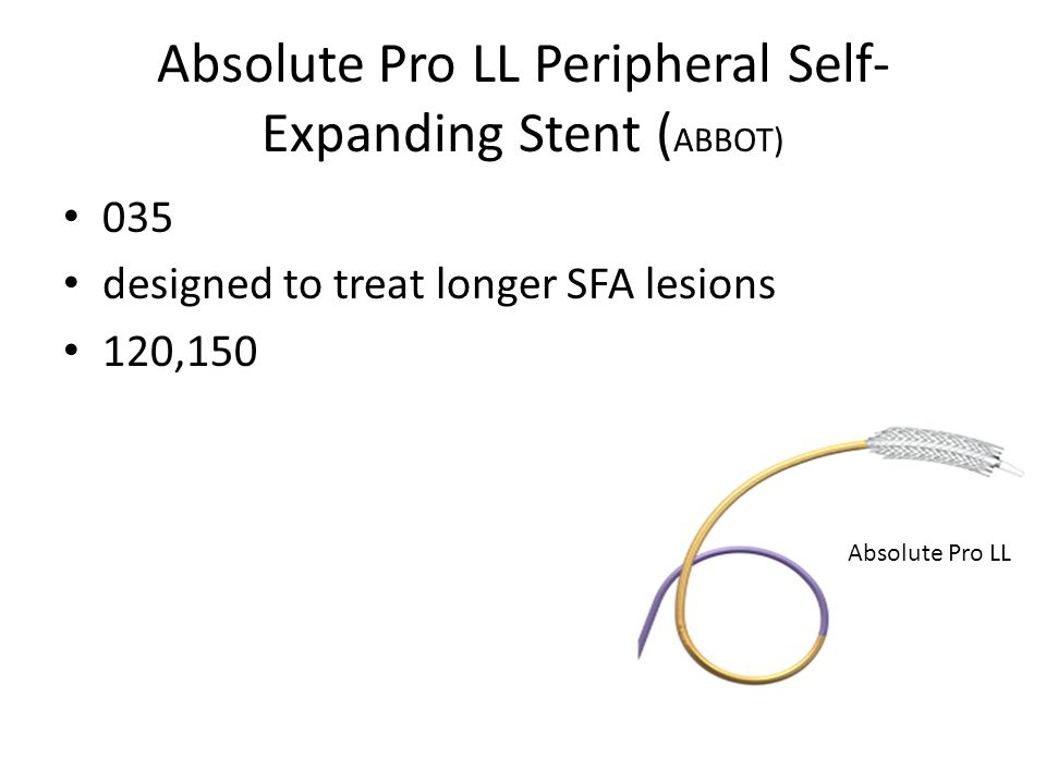 Absolute Pro LL Peripheral Self-Expanding Stent (ABBOT)