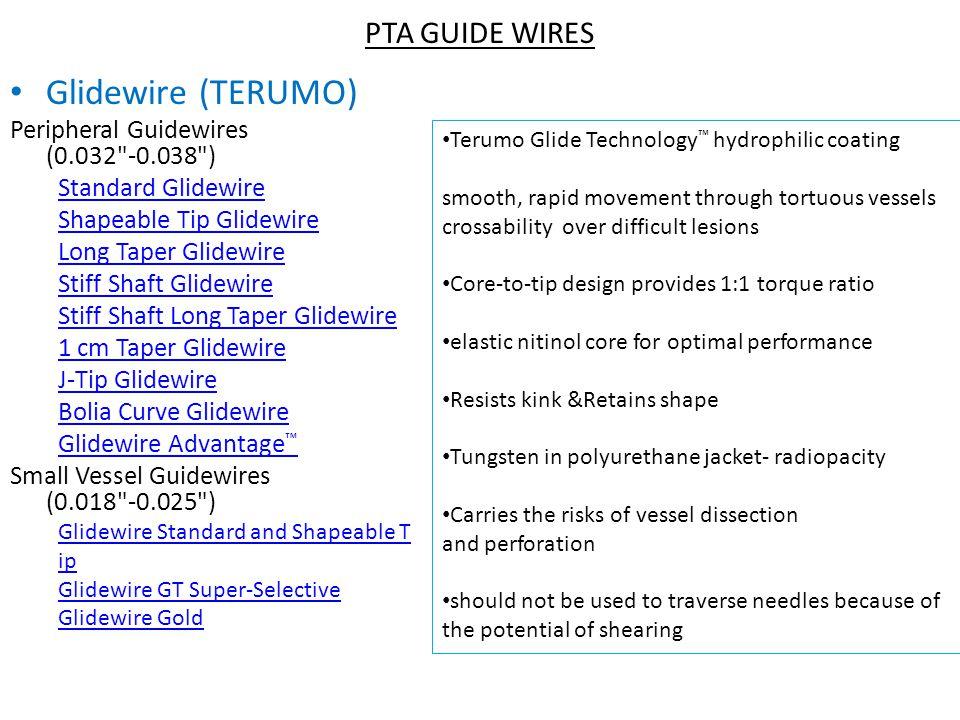 Glidewire (TERUMO) PTA GUIDE WIRES