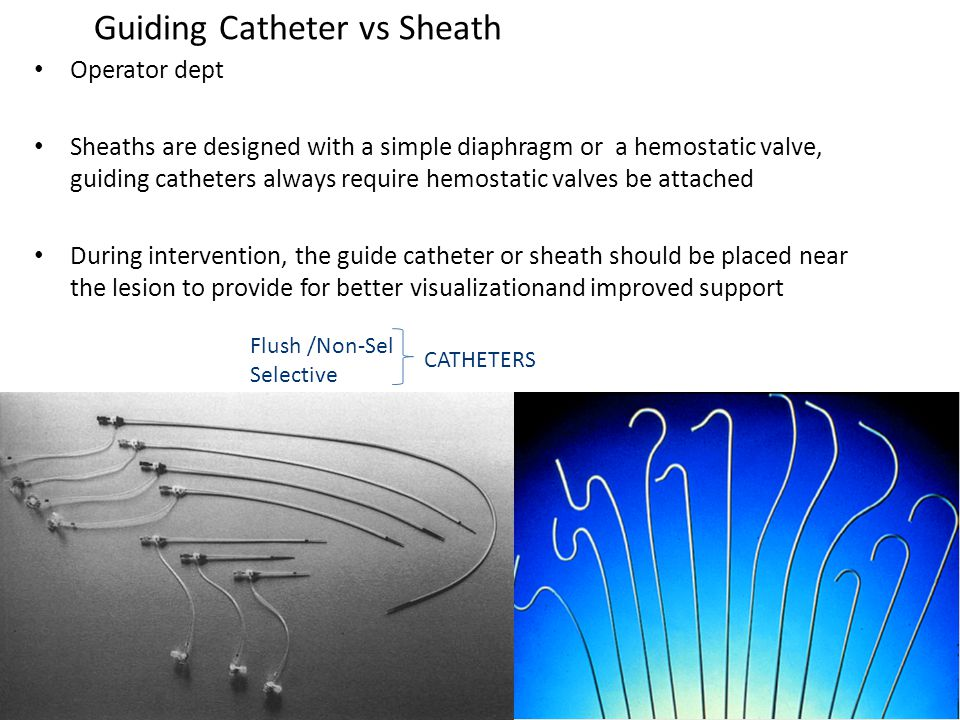 Guiding Catheter vs Sheath