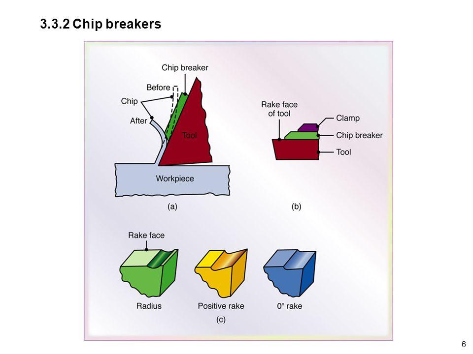 3.3.2 Chip breakers