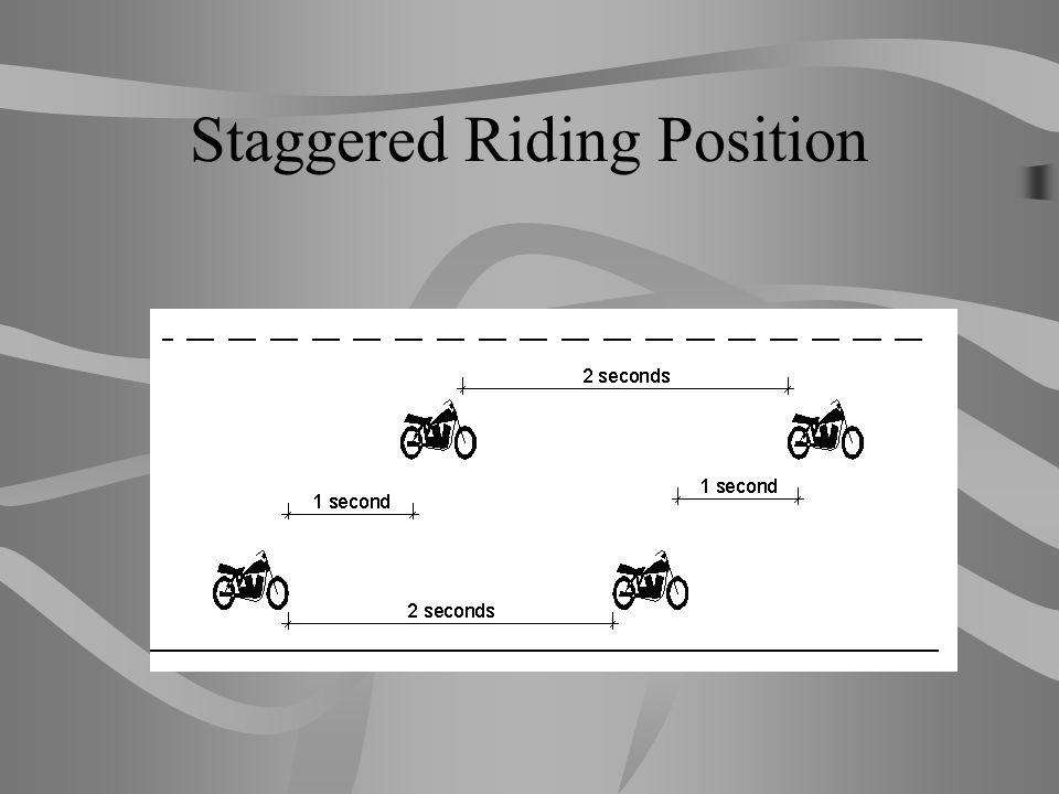 Staggered Riding Position