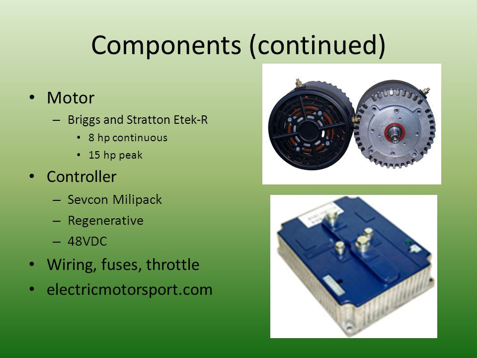 Components (continued)