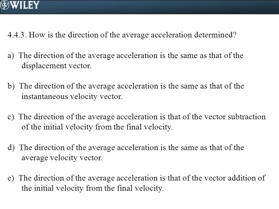 4.4.3. How is the direction of the average acceleration determined