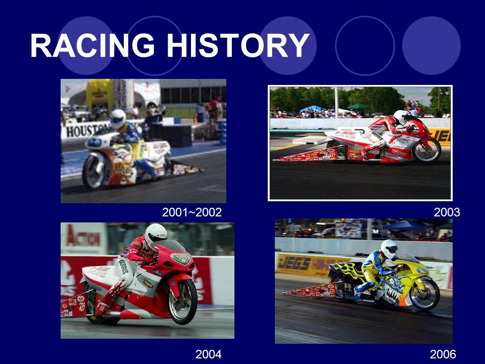 RACING HISTORY 2001~2002 2003 2004 2006