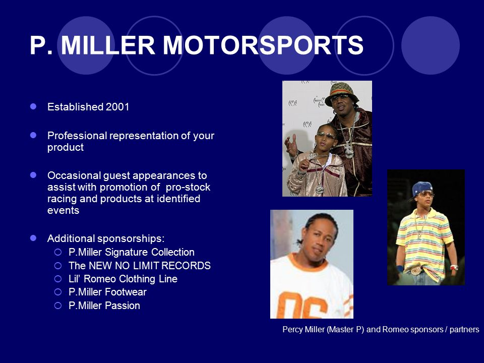 P. MILLER MOTORSPORTS Established 2001