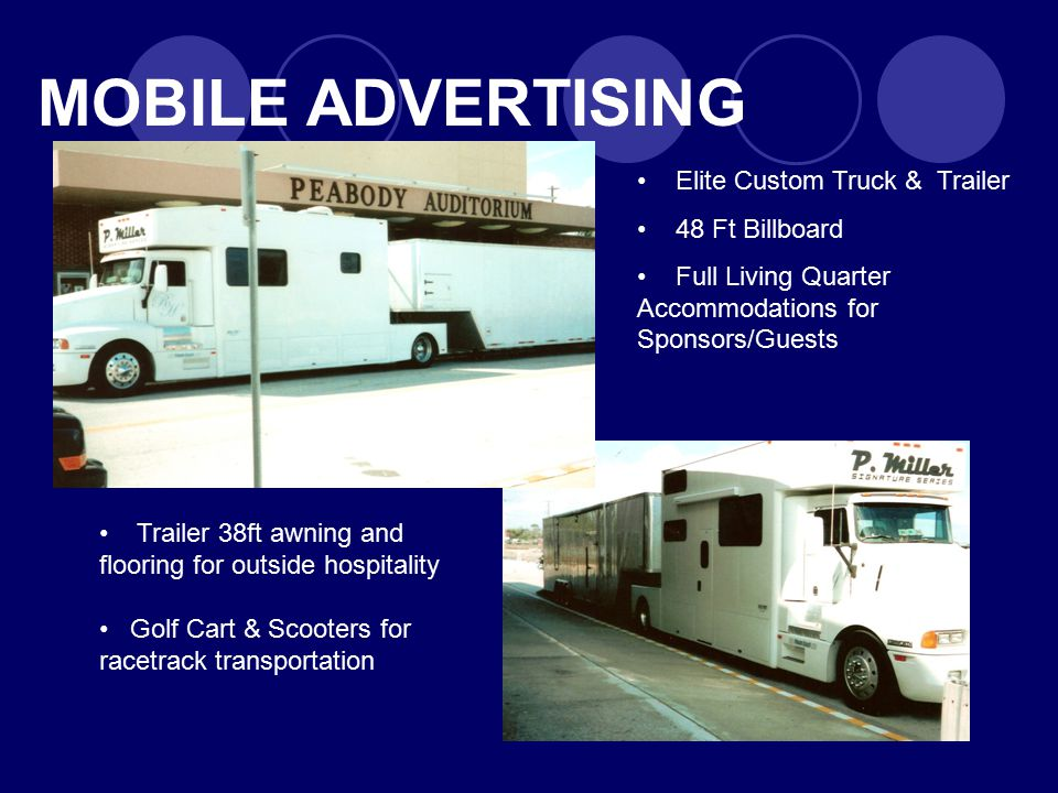 MOBILE ADVERTISING Elite Custom Truck & Trailer 48 Ft Billboard