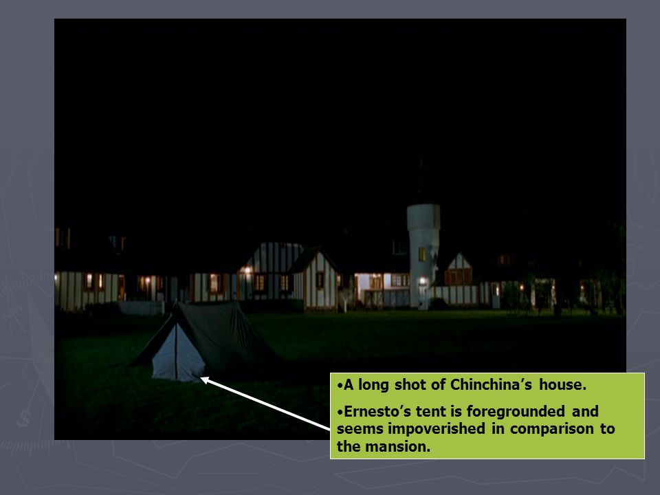 A long shot of Chinchina's house.
