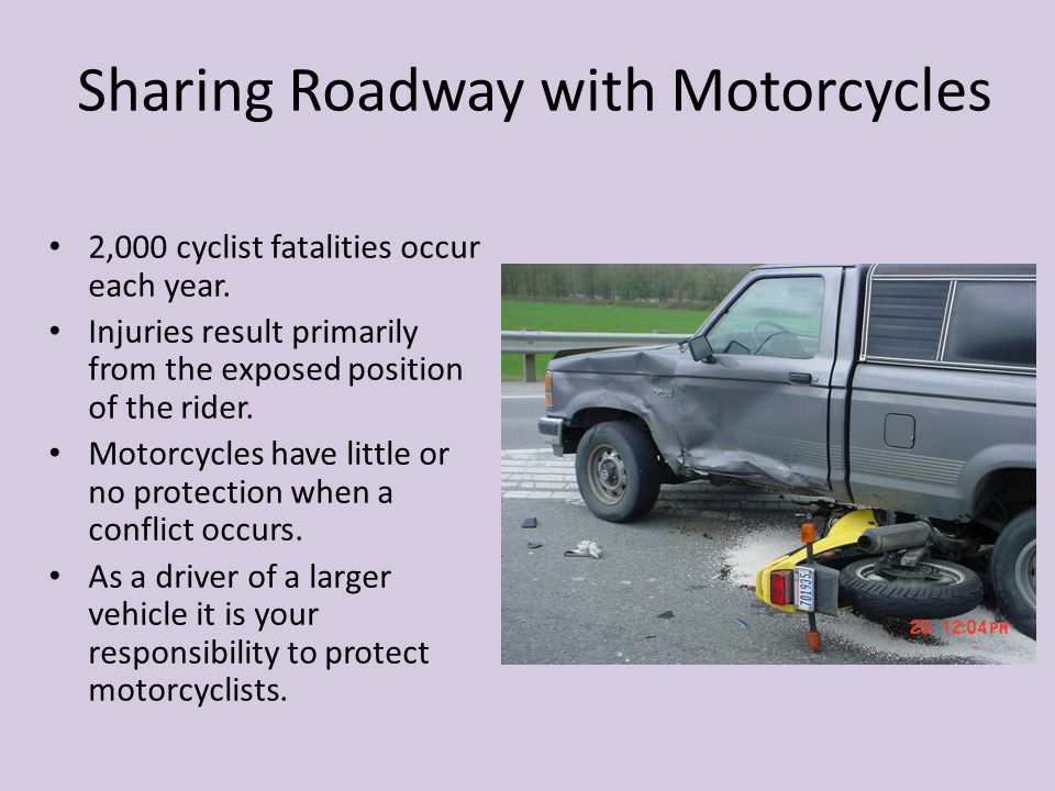 Sharing Roadway with Motorcycles