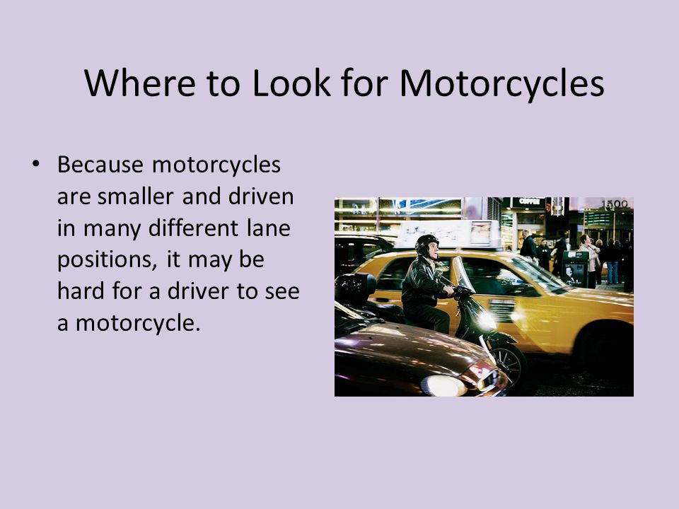 Where to Look for Motorcycles
