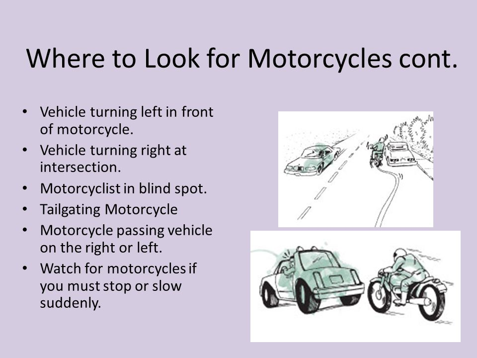 Where to Look for Motorcycles cont.