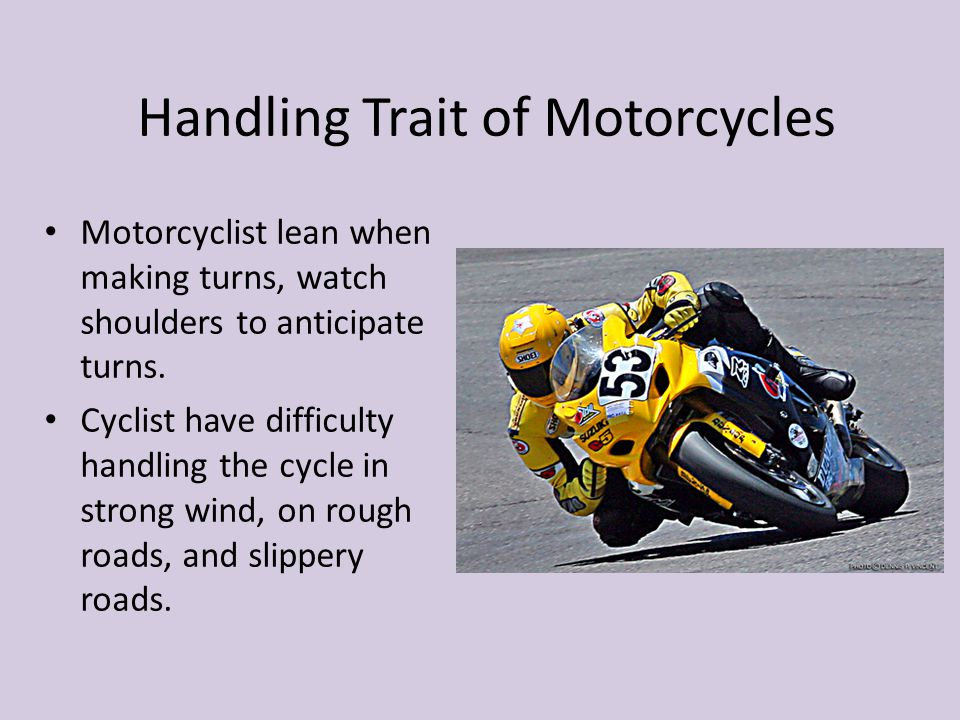 Handling Trait of Motorcycles