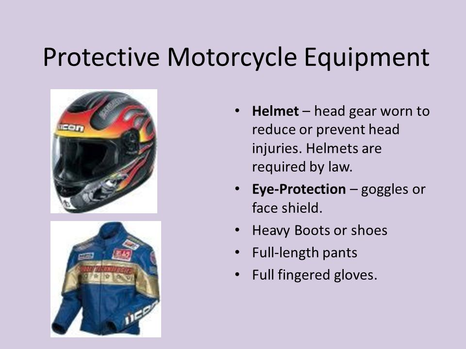 Protective Motorcycle Equipment