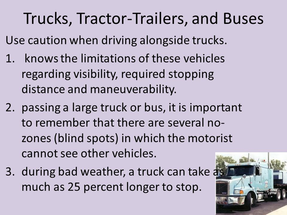 Trucks, Tractor-Trailers, and Buses