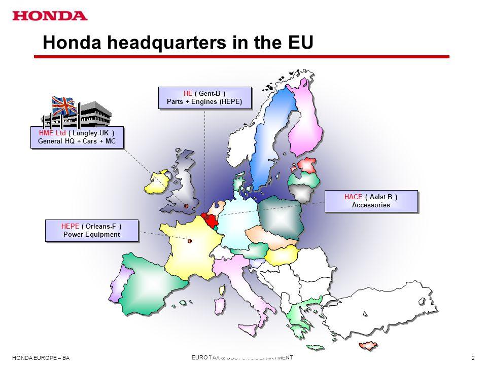 Honda headquarters in the EU