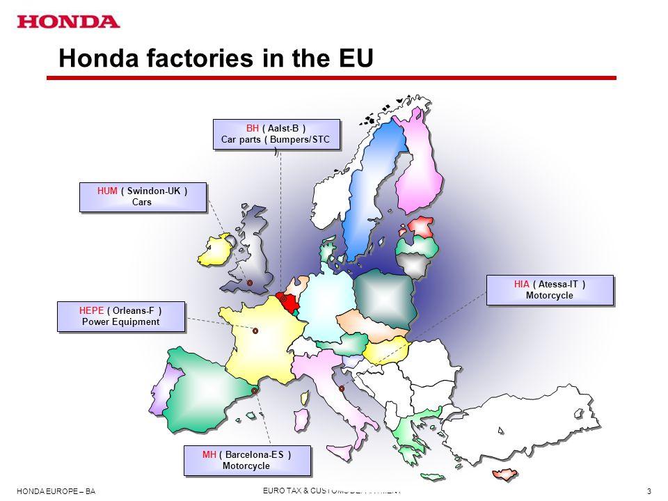 Honda factories in the EU