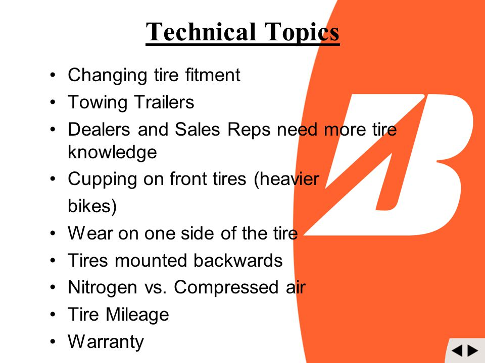 Technical Topics Changing tire fitment Towing Trailers