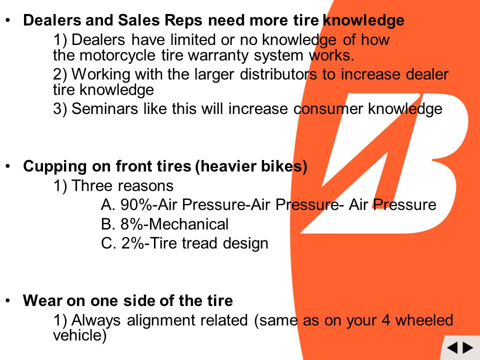 Dealers and Sales Reps need more tire knowledge