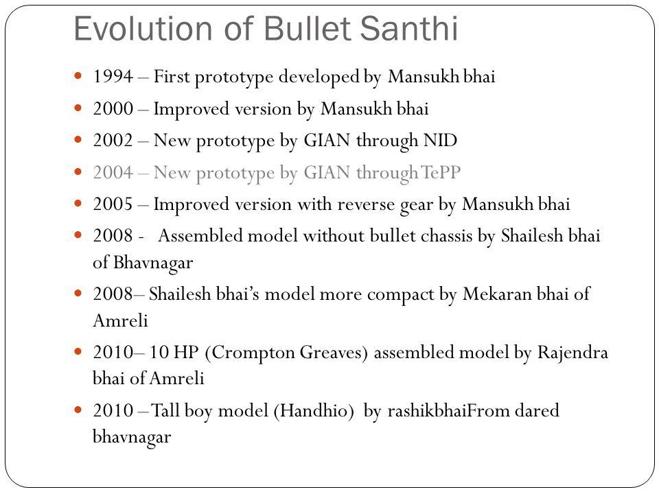 Evolution of Bullet Santhi