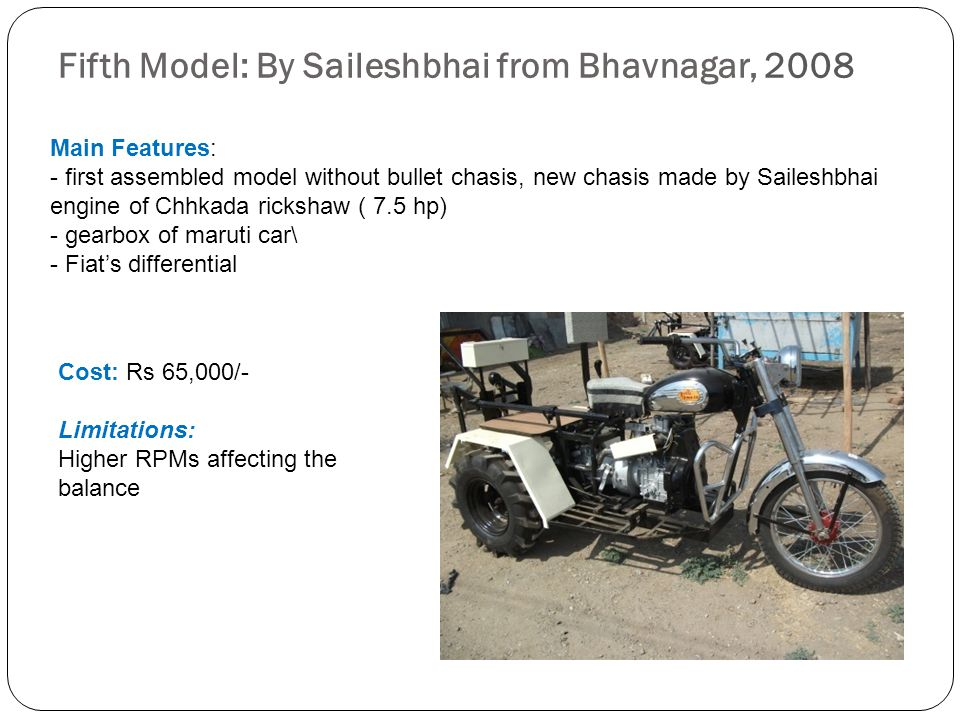 Fifth Model: By Saileshbhai from Bhavnagar, 2008