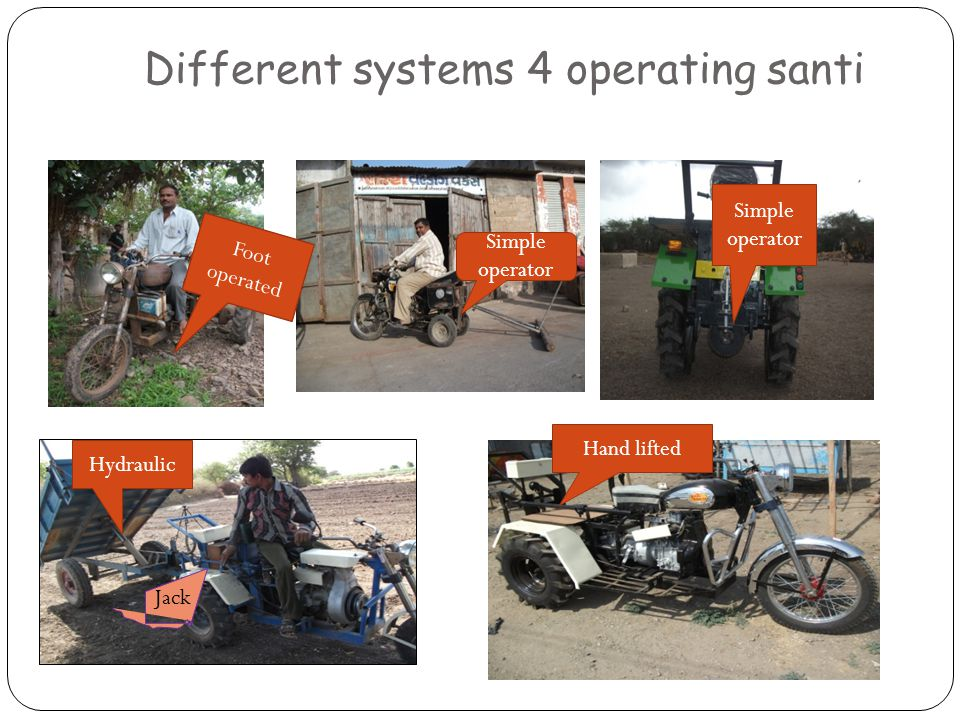 Different systems 4 operating santi