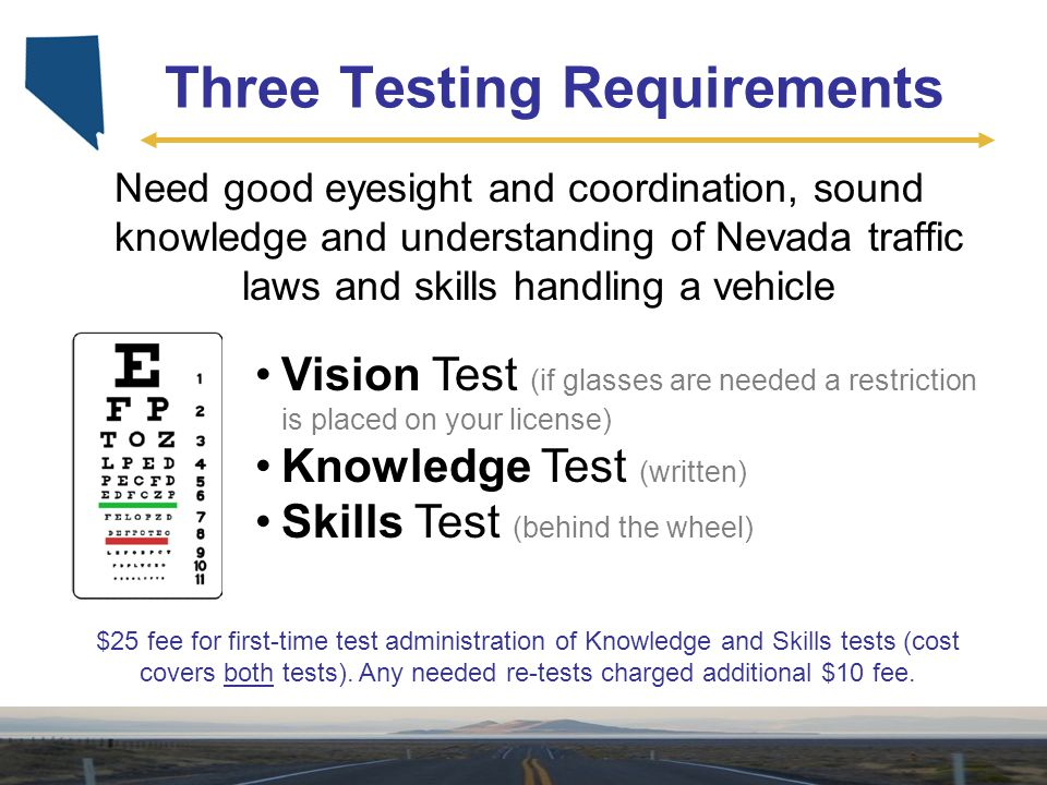 Three Testing Requirements
