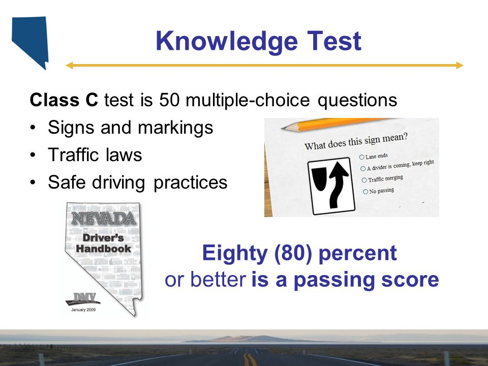 Eighty (80) percent or better is a passing score
