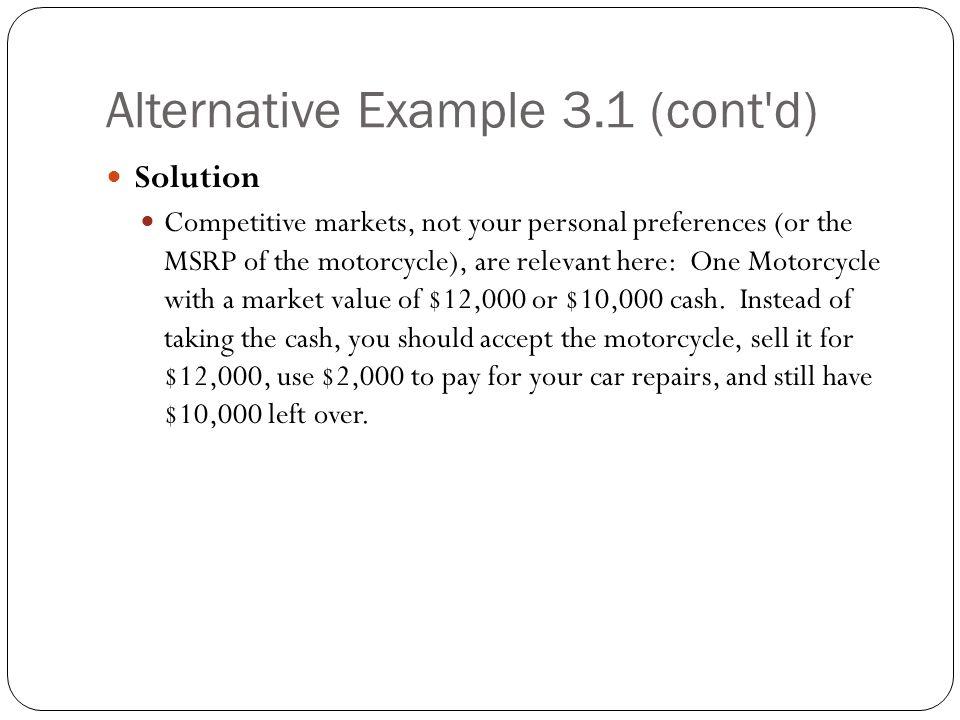 Alternative Example 3.1 (cont d)