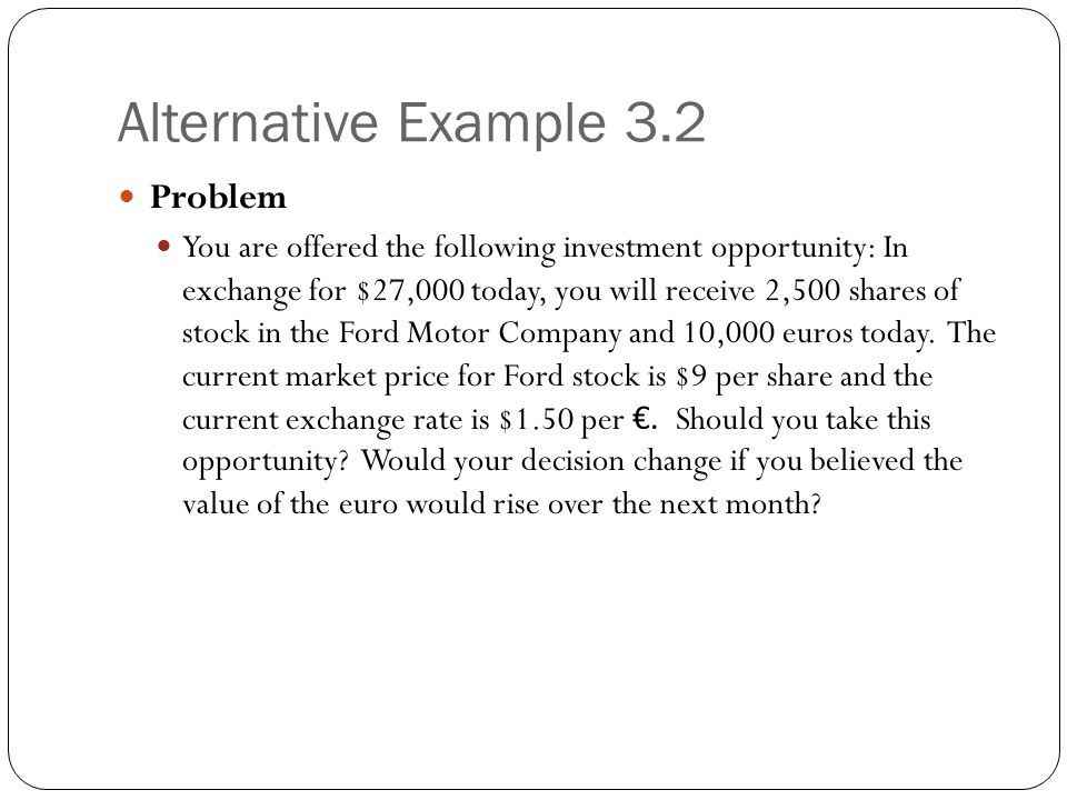 Alternative Example 3.2 Problem