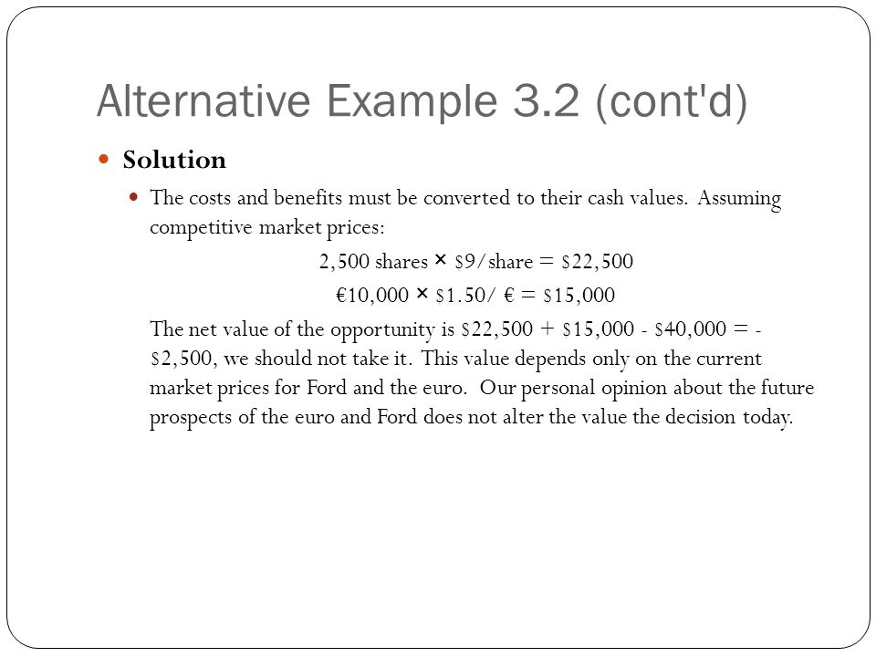 Alternative Example 3.2 (cont d)