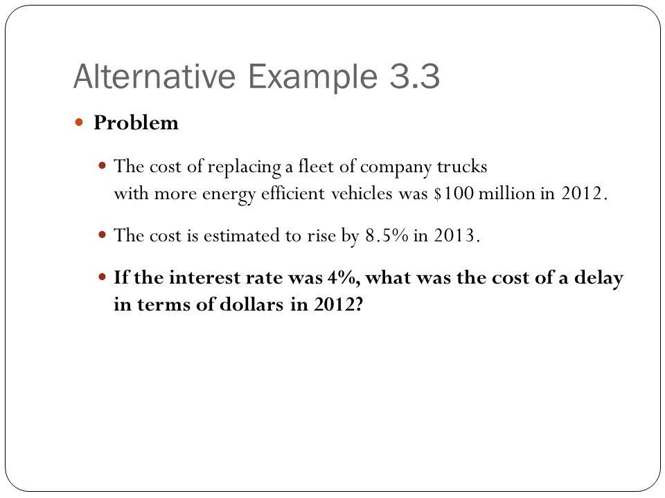 Alternative Example 3.3 Problem
