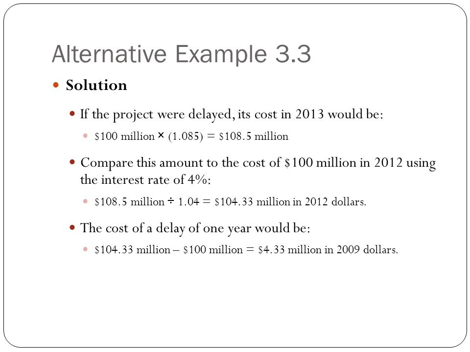 Alternative Example 3.3 Solution