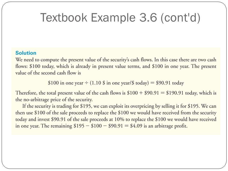 Textbook Example 3.6 (cont d)
