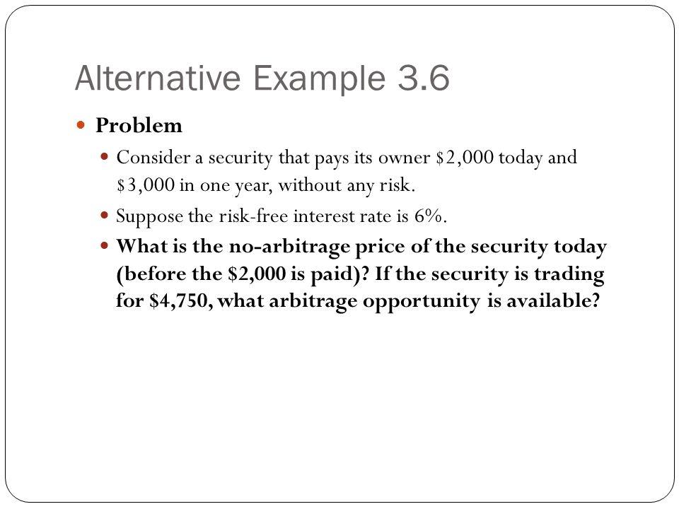 Alternative Example 3.6 Problem