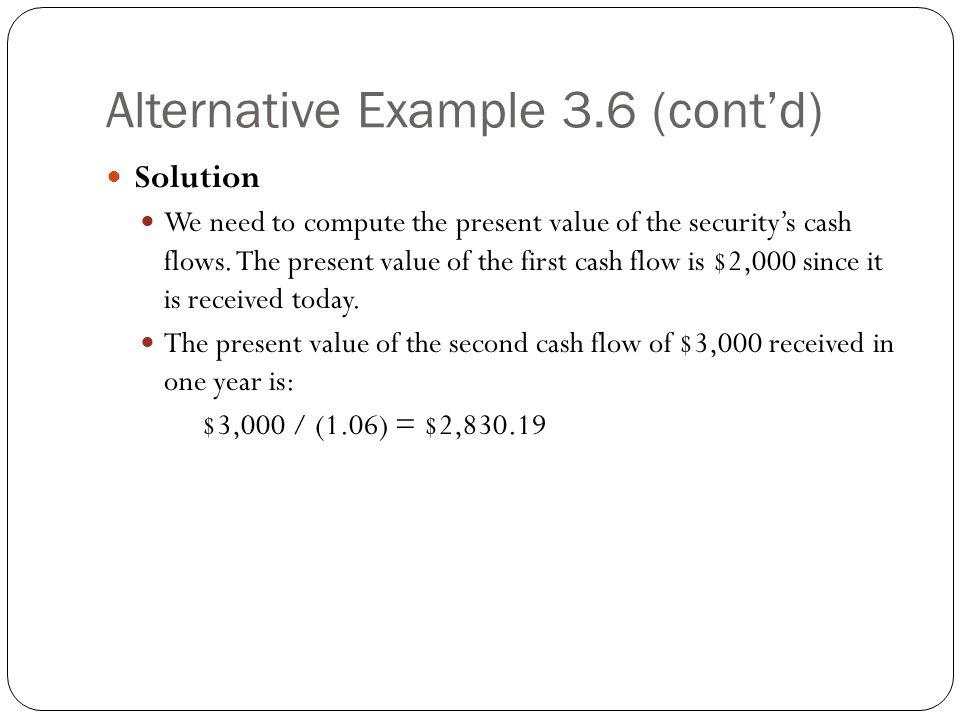 Alternative Example 3.6 (cont'd)