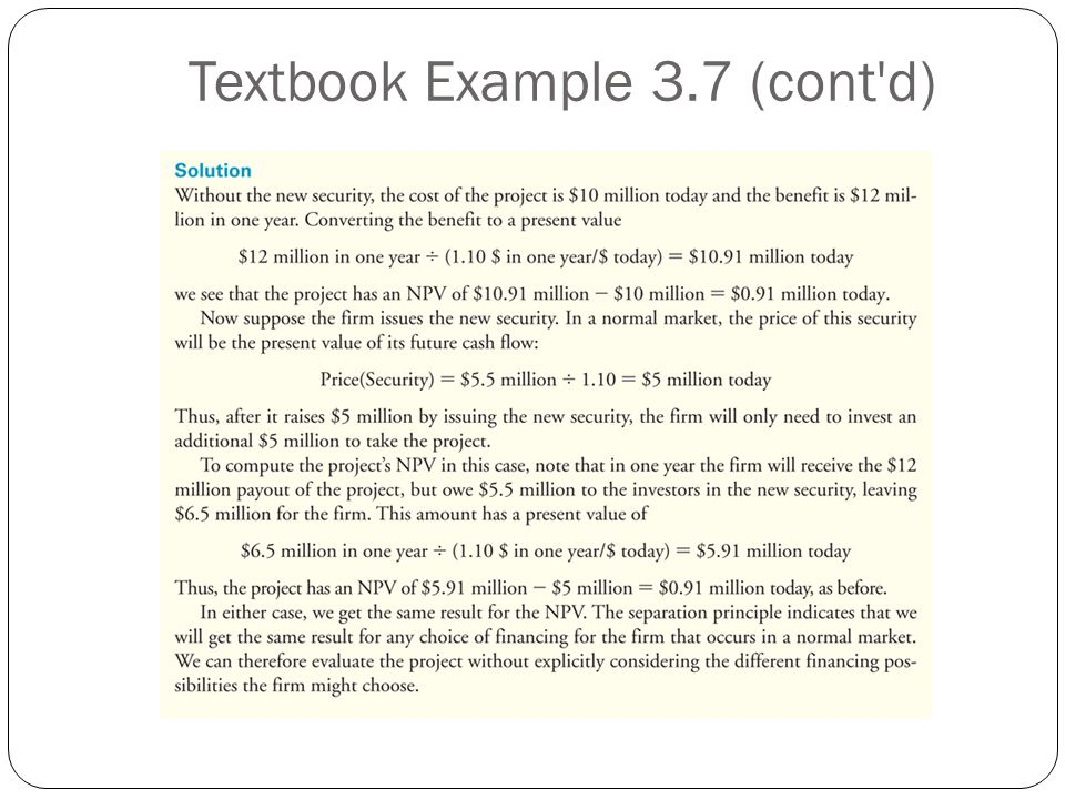 Textbook Example 3.7 (cont d)