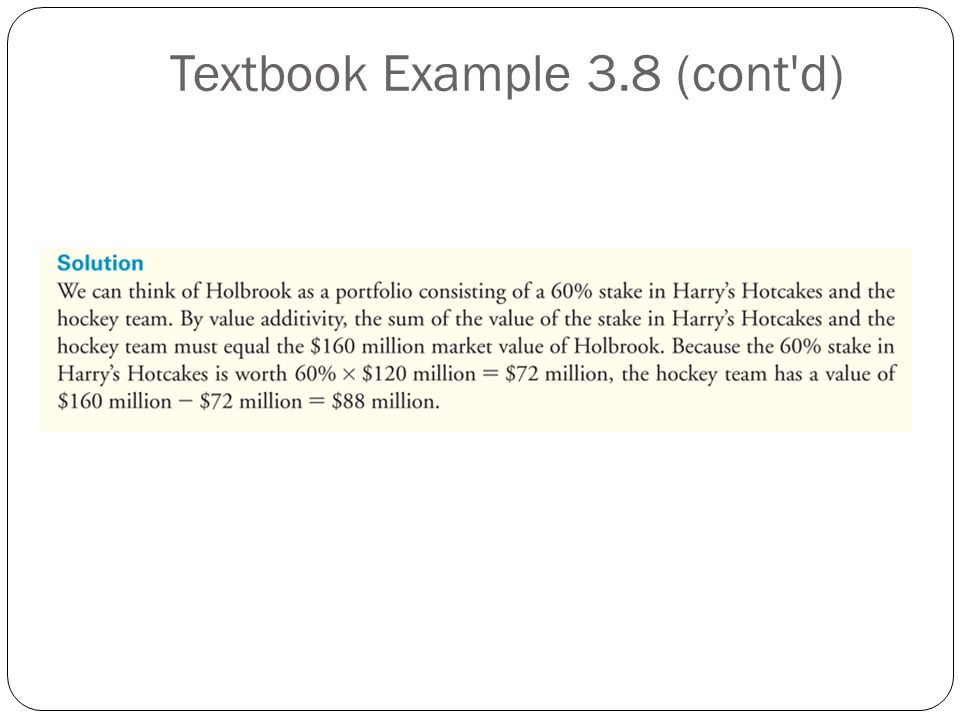 Textbook Example 3.8 (cont d)