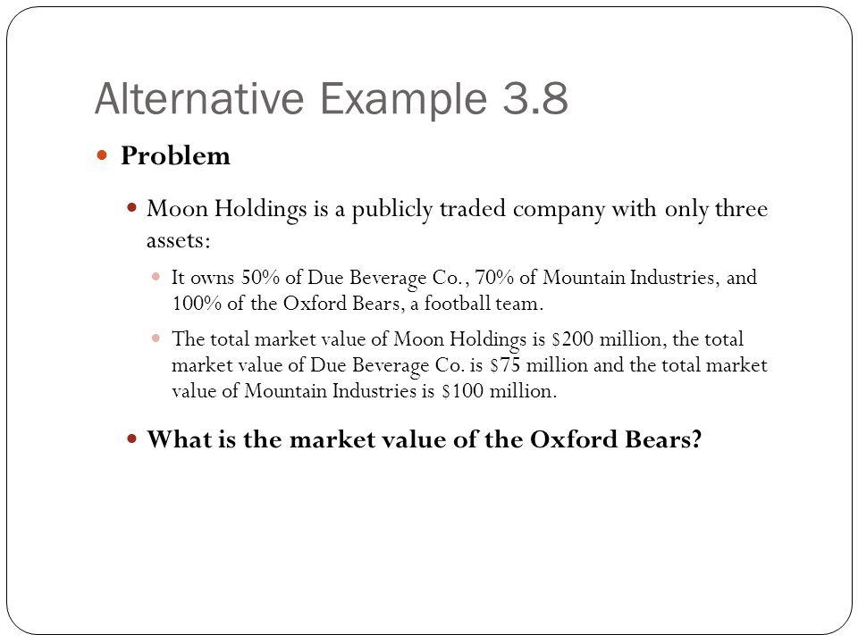 Alternative Example 3.8 Problem