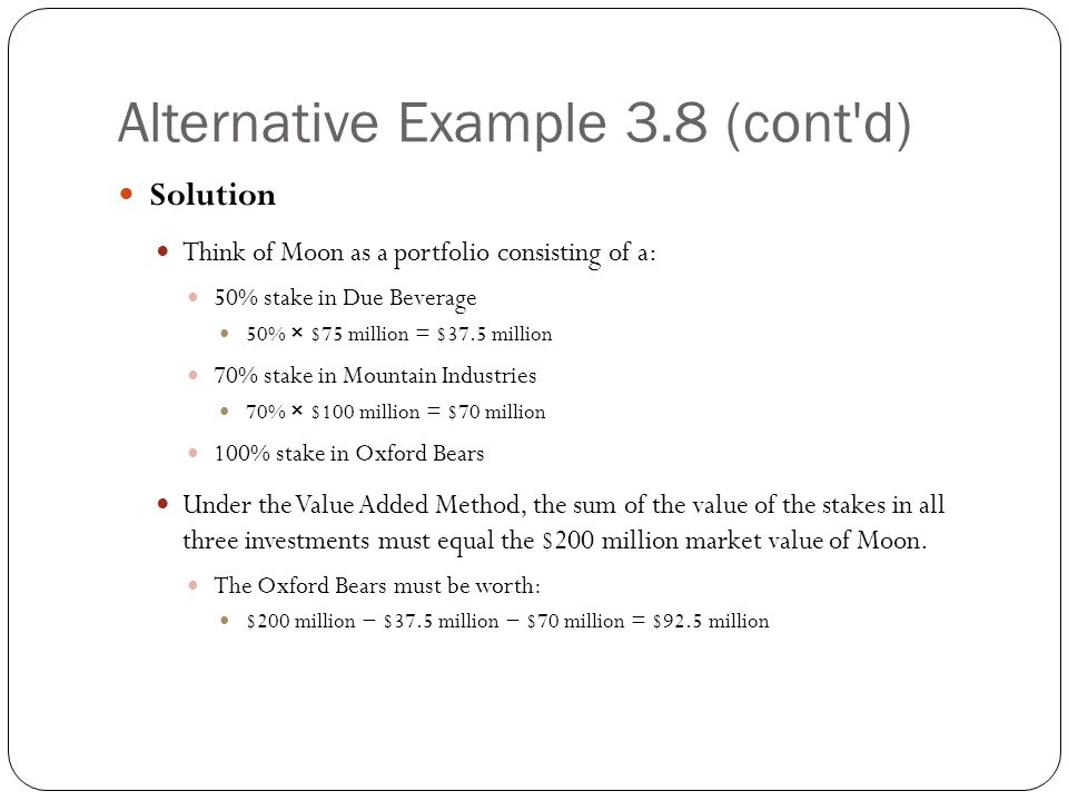 Alternative Example 3.8 (cont d)