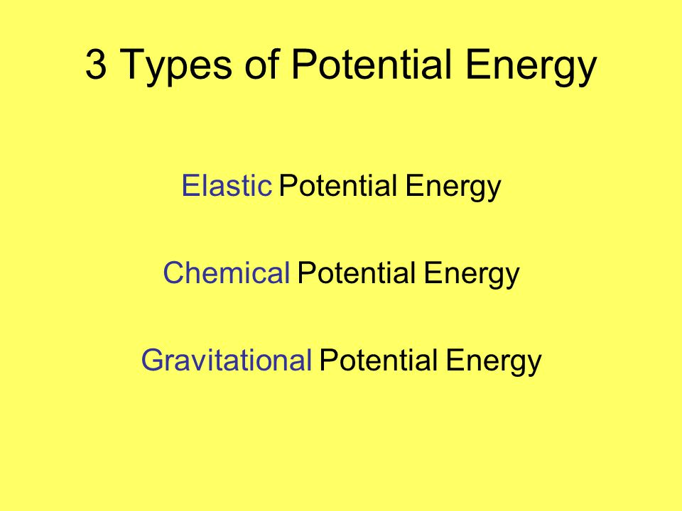 3 Types of Potential Energy