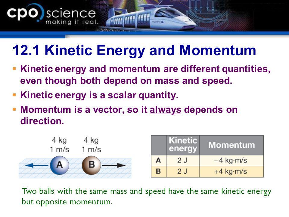 12.1 Kinetic Energy and Momentum