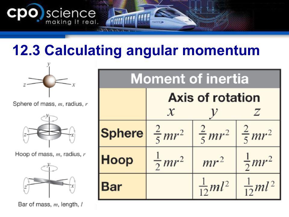 12.3 Calculating angular momentum