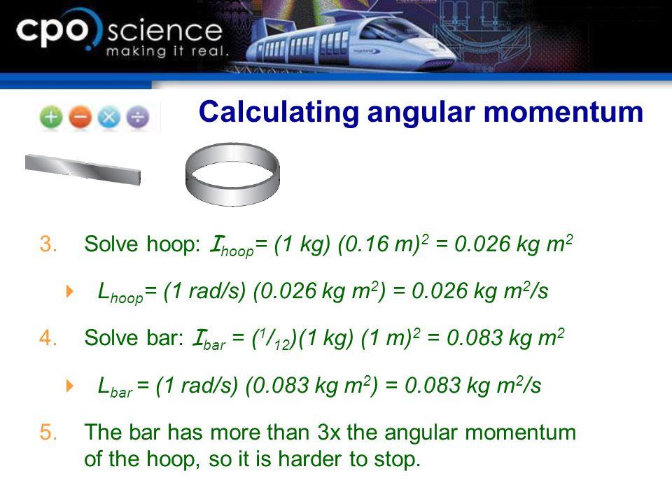 Calculating angular momentum