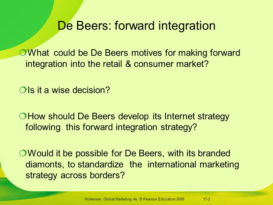 De Beers: forward integration