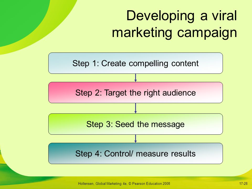 Developing a viral marketing campaign