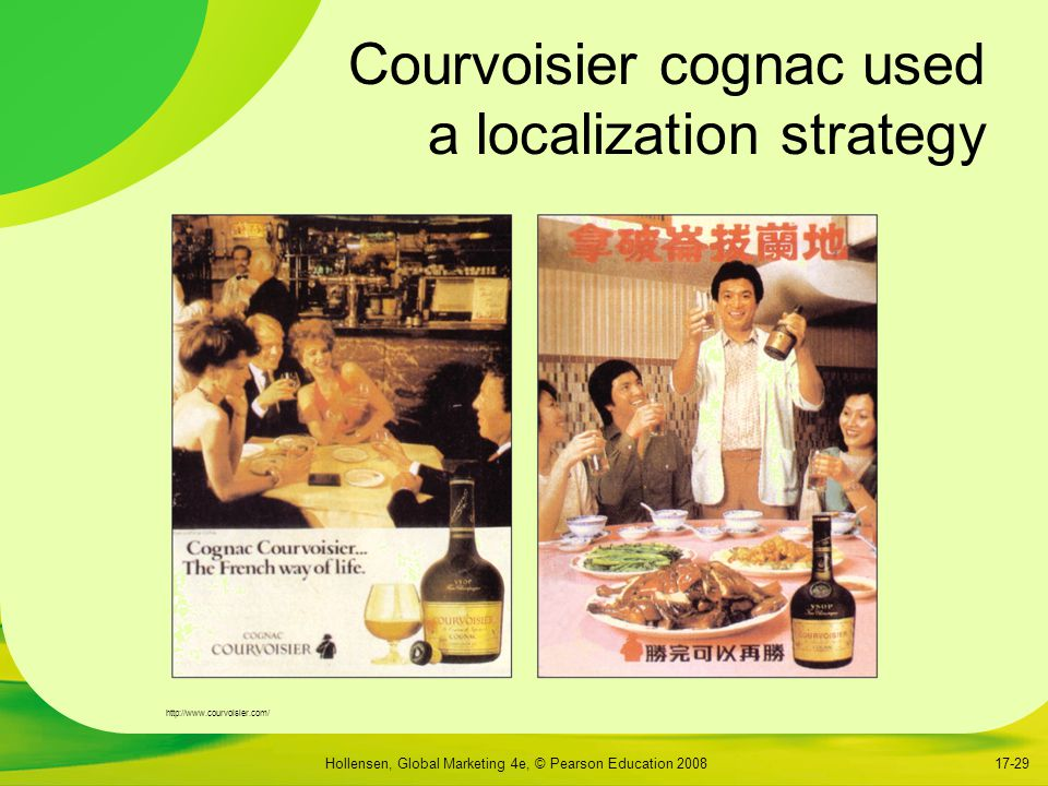 Courvoisier cognac used a localization strategy