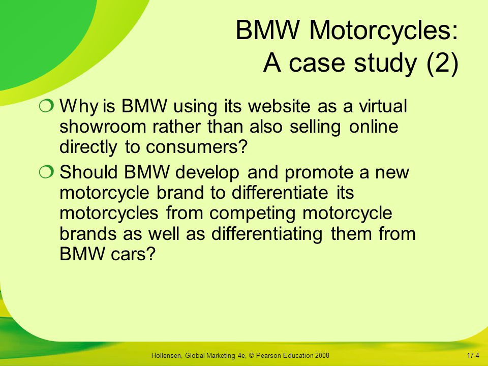 BMW Motorcycles: A case study (2)