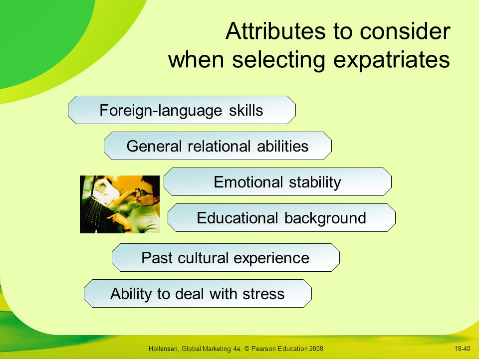 Attributes to consider when selecting expatriates