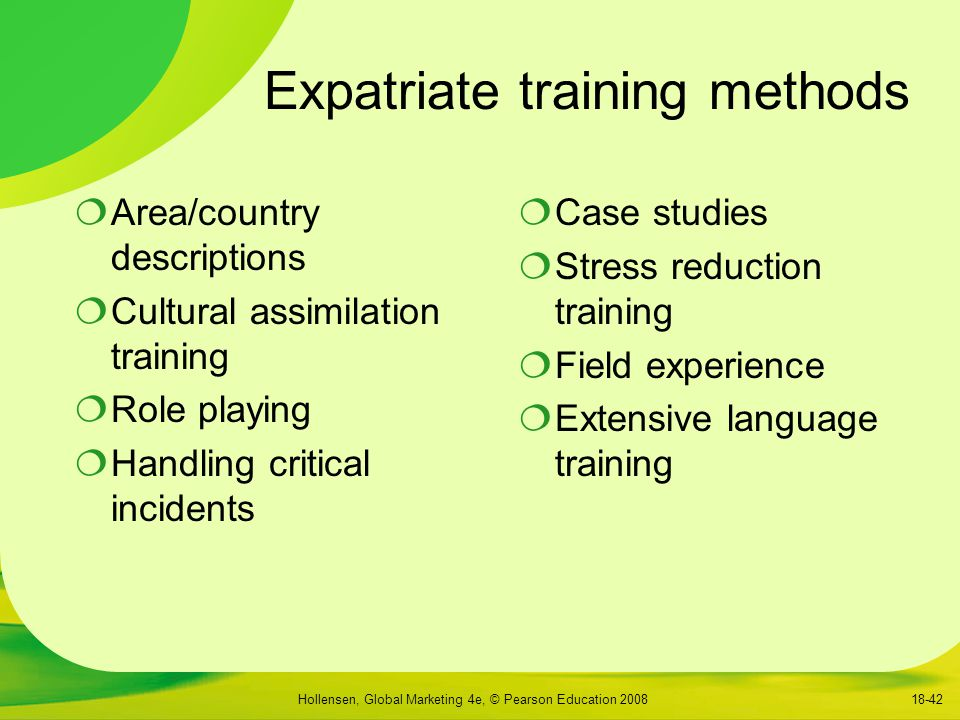 Expatriate training methods
