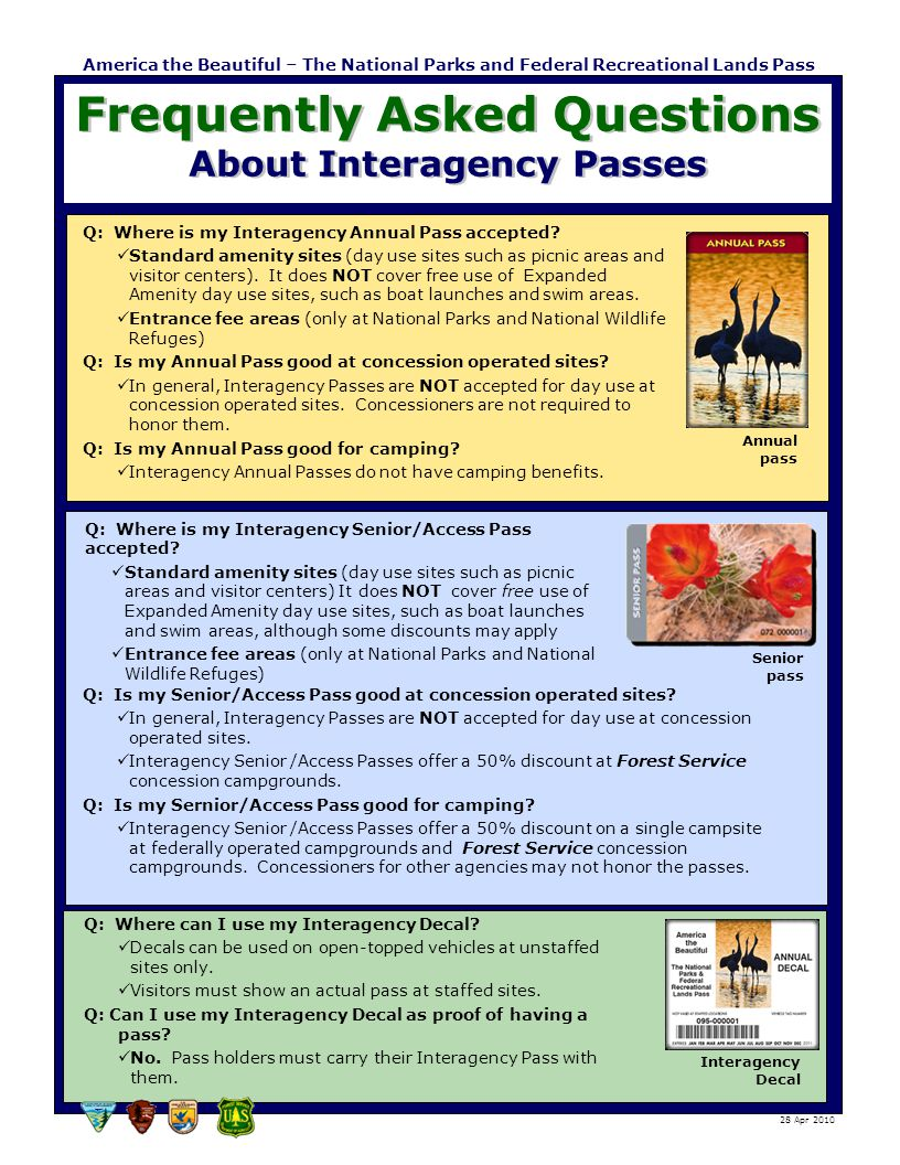 Frequently Asked Questions About Interagency Passes